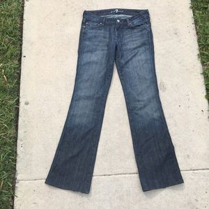 7 For All Mankind Flare A Pocket style jeans
